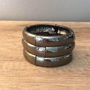 Pewter metal bangle bracelet